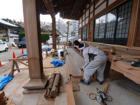 平成23年 本堂改修工事2
